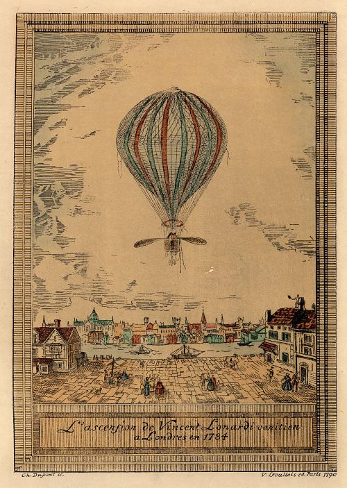 L'ascendion de Vincent Lonardi Venitien a Lodres en 1784.