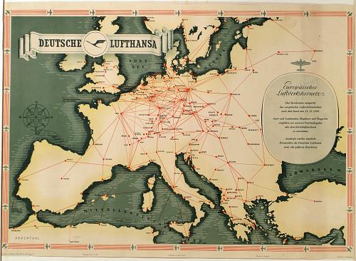 Deutsche Luft Hansa: Europaisches Luftverkehrsnetz