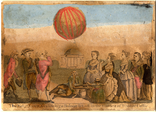 King George III and Queen Charlotte Viewing a Baloon Let Off In the Garden of Winsor Castle