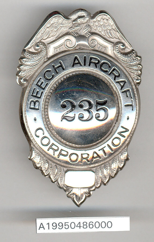 Badge, Security Officer, Beech Aircraft Co.