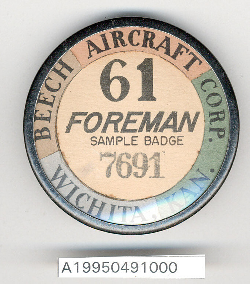Badge, Identification, Beech Aircraft Co.