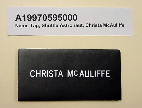 Name Tag, Shuttle Astronaut (McAuliffe)