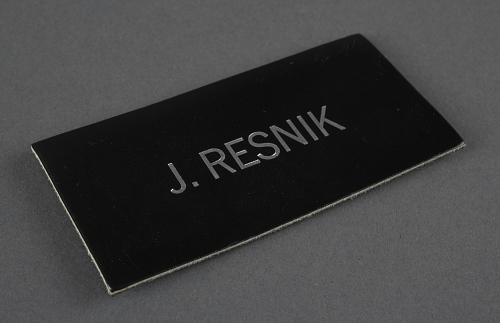 Name Tag, Shuttle Astronaut (Resnik)
