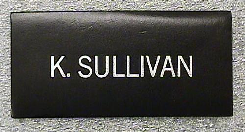 Name Tag, Shuttle Astronaut (Sullivan)