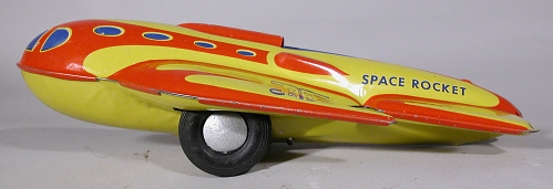 Toy, Tin Toy, Space Rocket Ship 306