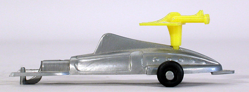 Toy, Supersonic Space Ship, Captain Video, Silver and yellow