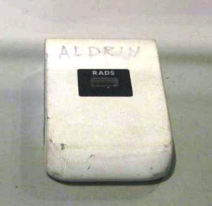 Dosimeter, Passive Radiation, Personal, Aldrin, Apollo 11