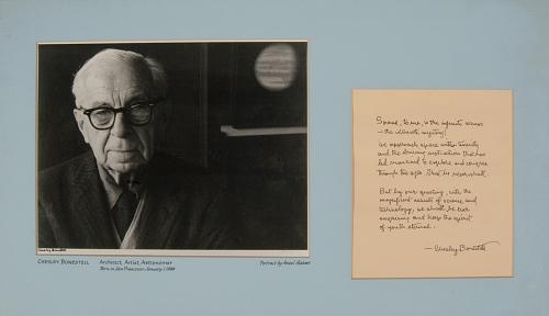 """Chesley Bonestell, Architect, Artist, Astronomer,"""