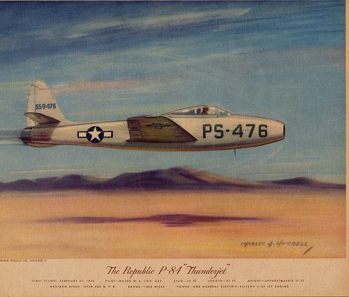 """The Republic P-84 """"Thunderjet"""""""