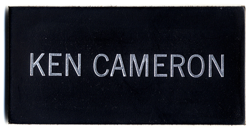 Name Tag, Shuttle Astronaut (Cameron)