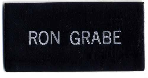 Name Tag, Shuttle Astronaut (Grabe)