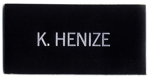 Name Tag, Shuttle Astronaut (Henize)