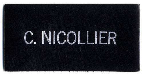 Name Tag, Shuttle Astronaut (Nicollier)