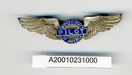 Badge, Pilot, Women Flyers of America