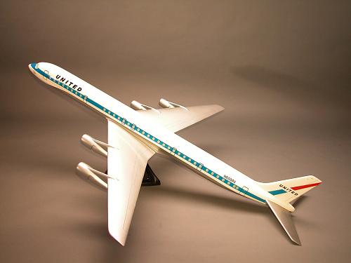 Model, Static, Douglas Super DC-8 60 Series, United Airlines