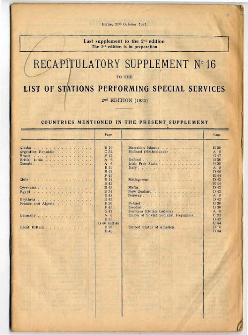 Publication, Stations Performing Special Services, C.A. Lindbergh, Tingmissartoq