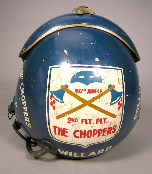 Helmet, 118th Assault Helicopter Company, Pollution IV, Brian Willard