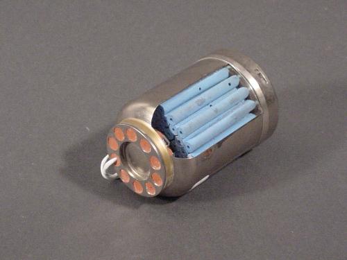 Rocket Motor, Solid Fuel, Marc 80, Partial Cutaway