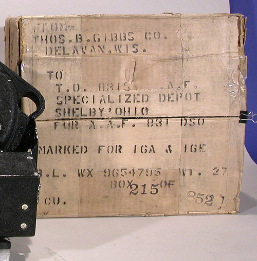 Original Box, Rate End Computer, Bombsight, Norden, CP-17/APA-46