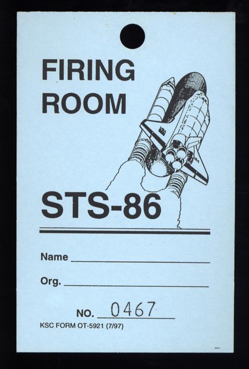 Pass, Firing Room, STS-86, Atlantis - Mir