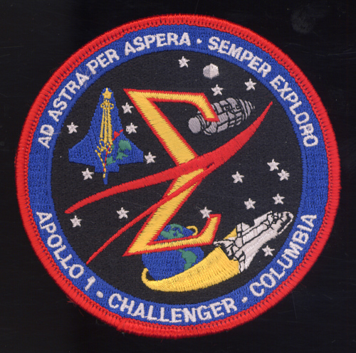 Patch, Commemorative, Spaceflight Memorial, Apollo I, Challenger, Columbia