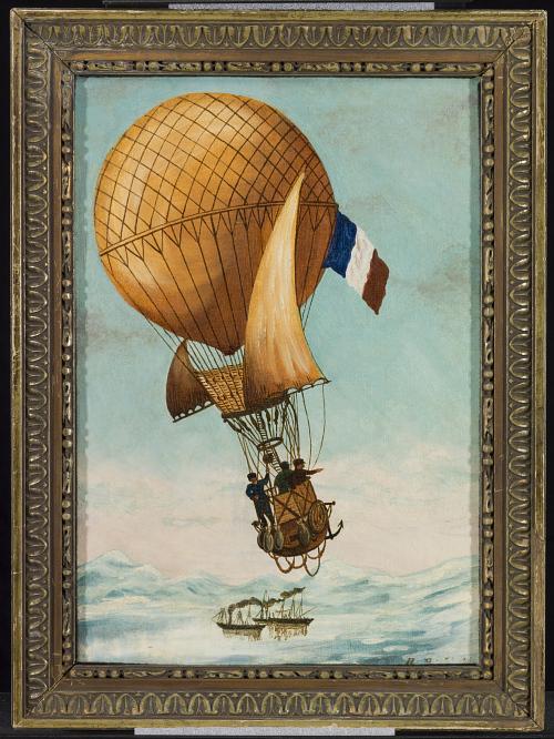 Départ d'Andrée pour le pôle Nord. 11 Jullet 1897 Sur L'Oernen (qui signife L'Anigle en Suedois.) L'expedition Andree, Stirinberg et Frankel.
