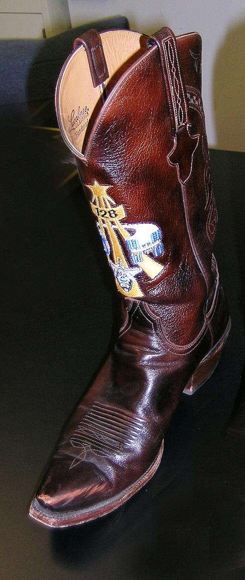 Cowboy Boot, Right, Danny Olivas, STS-128