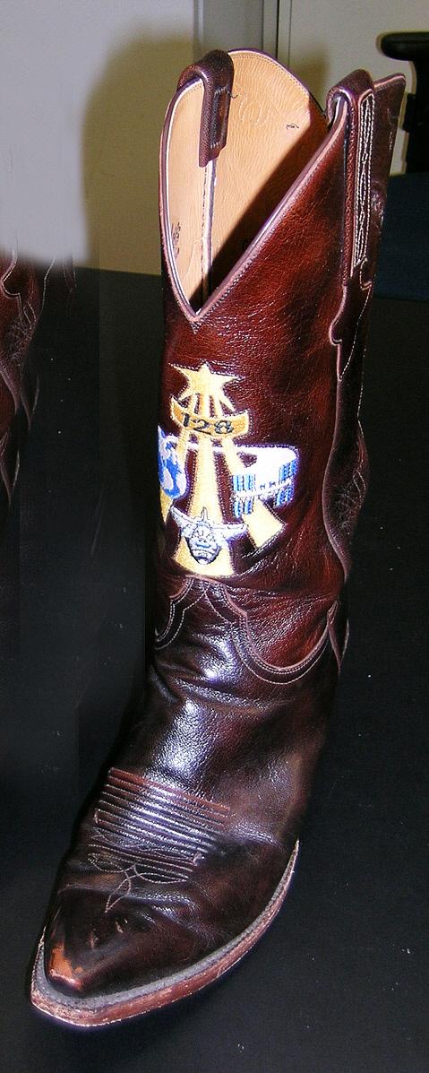 Cowboy Boot, Left, Danny Olivas, STS-128