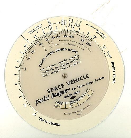 Slide Rule, Space Vehicle Pocket Designer