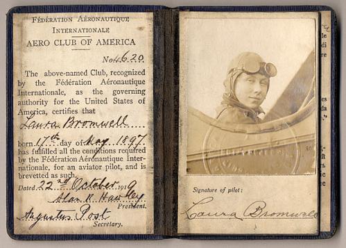 License, Aviator Pilot, Civilian, Laura Bromwell