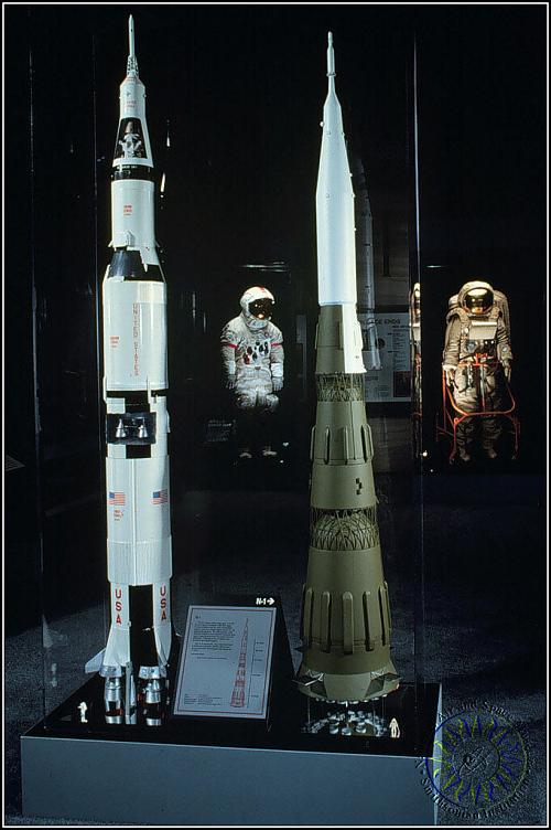 Model, Rocket, Launch Vehicle, Soviet Lunar, N-1: 1/48