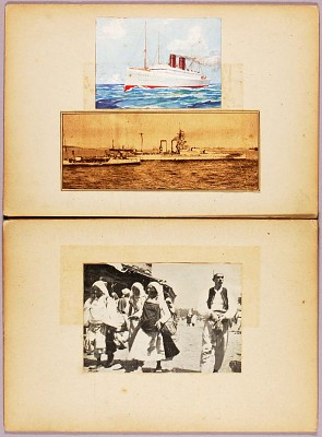 White Against Sky--Arabs, study folder for book Concealing Coloration in the Animal Kingdom