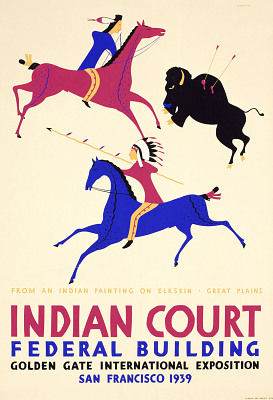 From an Indian Painting on Elkskin--Great Plains