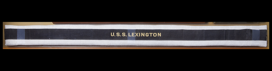 Cap, Ribbon, U.S.S. Lexington, United States Navy