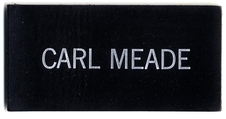 Name Tag, Shuttle Astronaut (Meade)