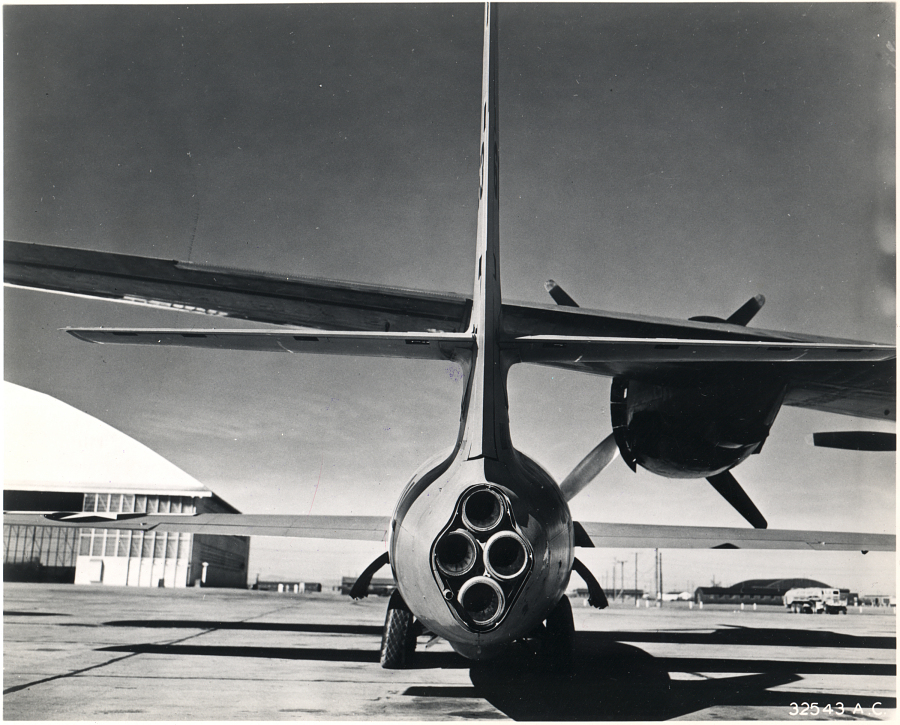 View of Bell X-1's rocket engine