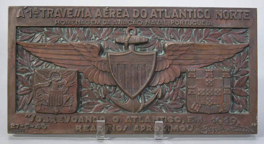 Plaque, NC-4 North Atlantic Flight