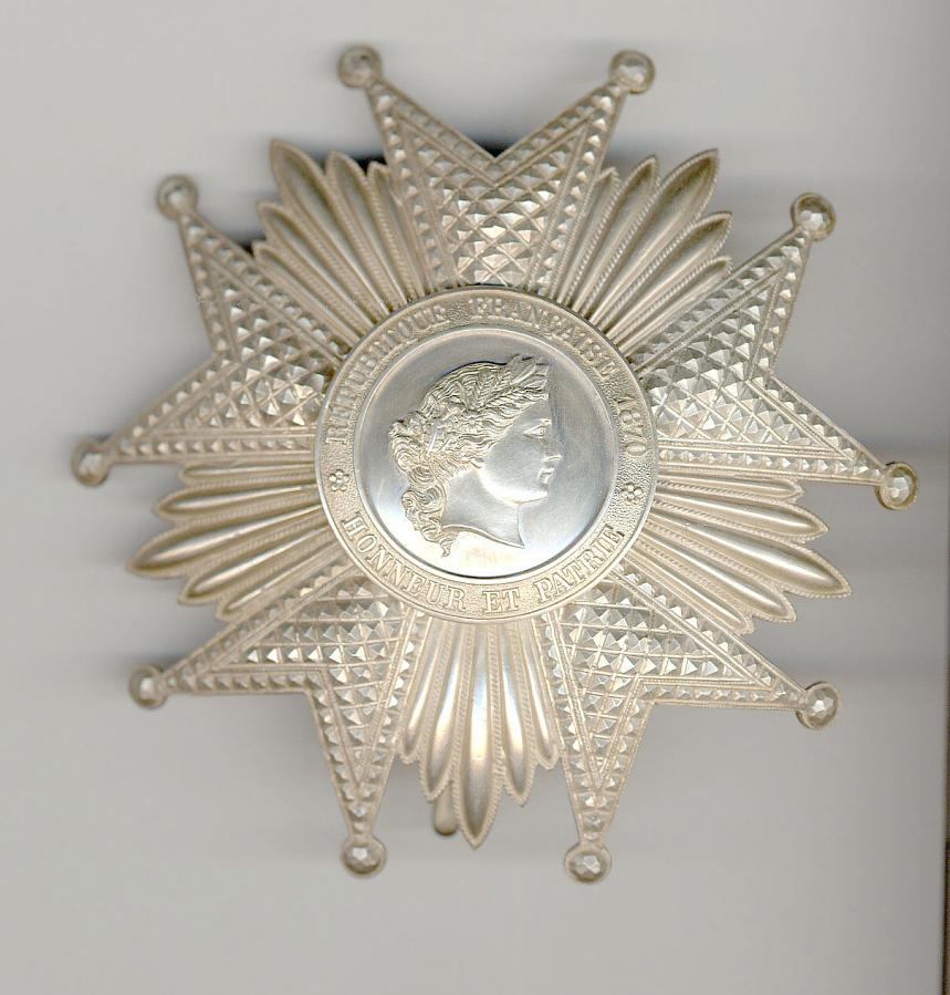 Breast Star, Legion of Honor -- Grand Officer, James H. Doolittle