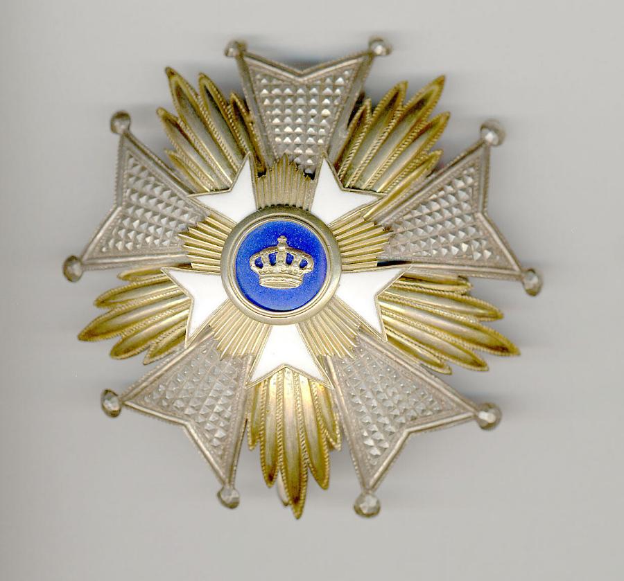 Medal, Order of the Crown Grand Officer, James H. Doolittle