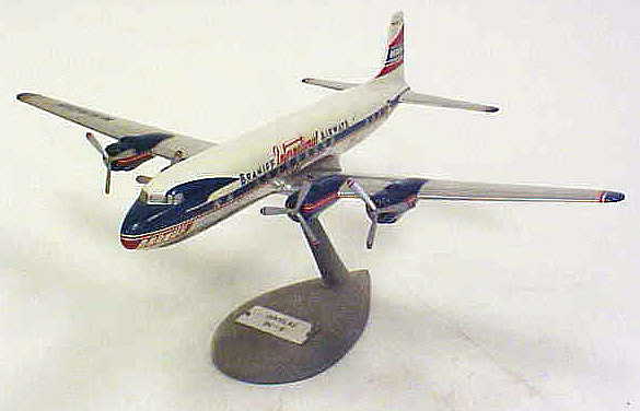 Model, Static, Douglas DC-6, Braniff International Airways