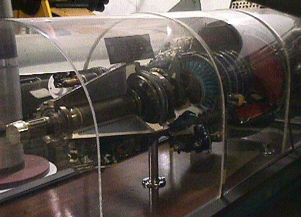General Electric T31 (TG-100) Turboprop Engine, Cutaway