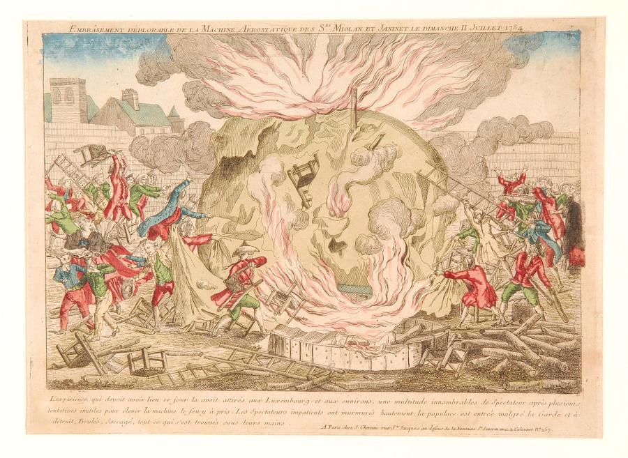 Embrasement Deplorable de la Machine Aerostatique des Srs. Miolan et Janinet le dimanche 11 Juillet 1784