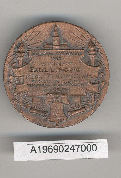 Medal, 1926 National Air Races