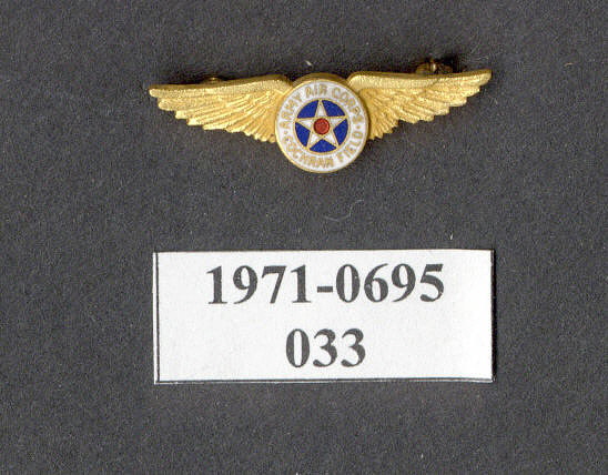 Pin, Lapel, United States Army Air Corps Cochran Field