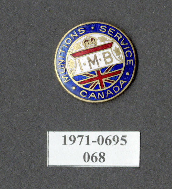 Pin, Lapel, Canadian Munitions Worker