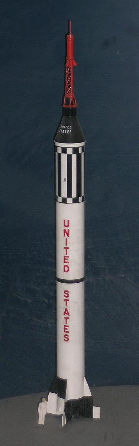 Model, Rocket, Mercury Redstone, 1:48