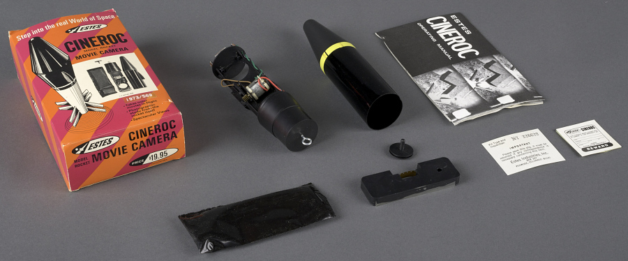 Rocket, Flying Model, Movie Camera, Cineroc