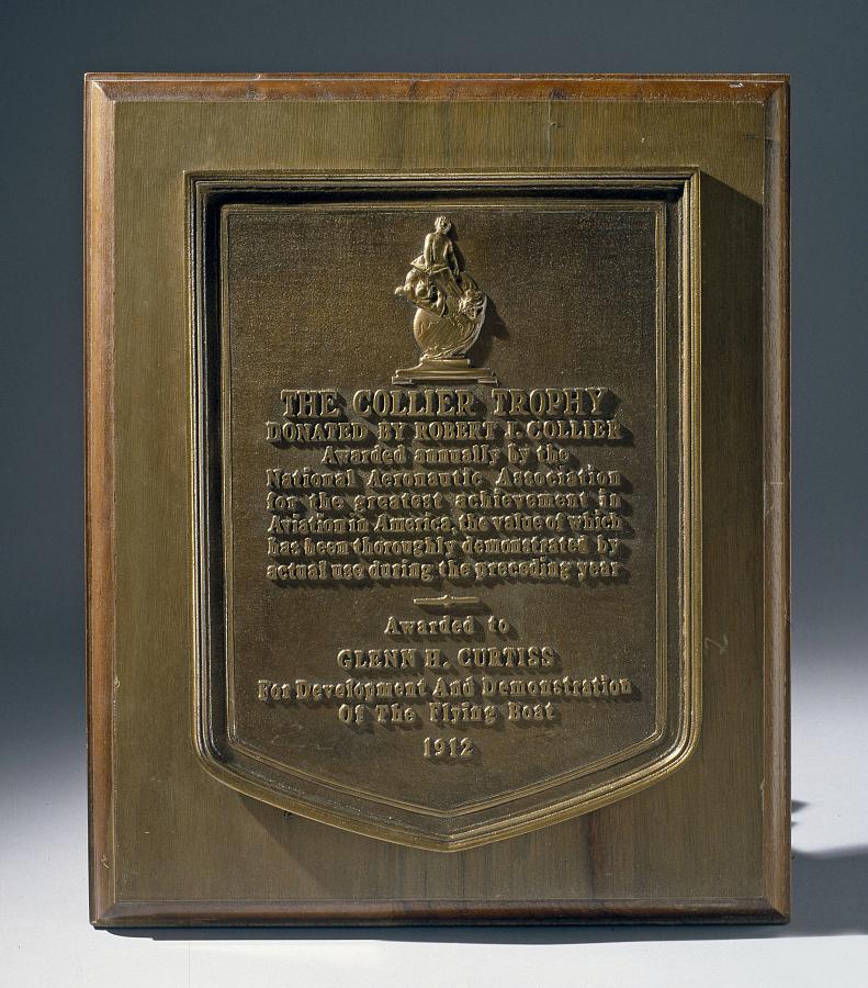 Plaque, Collier Trophy, Glenn Curtiss
