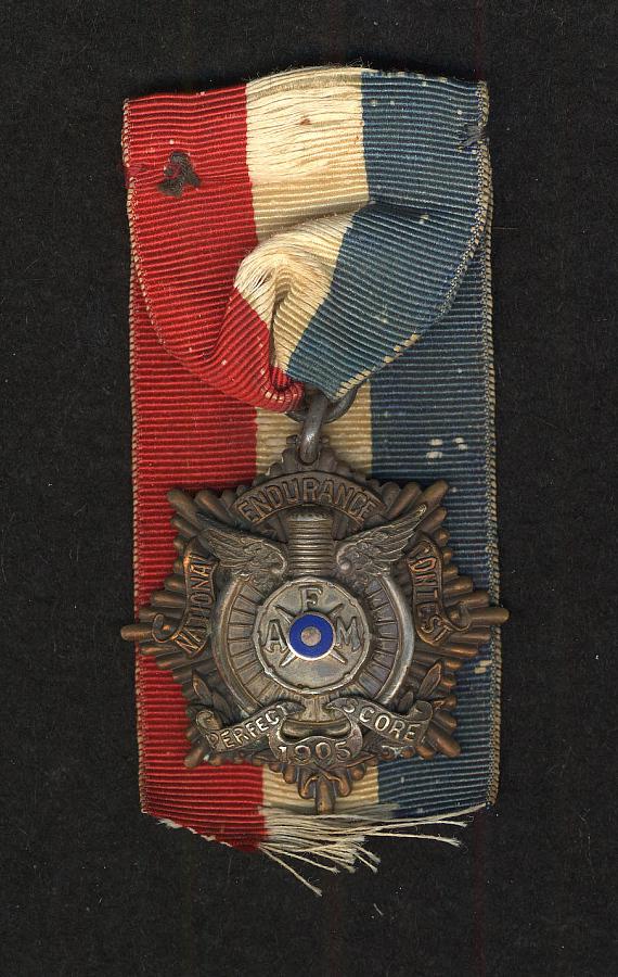 Medal, National Endurance Motorcycle Contest, Glenn Curtiss