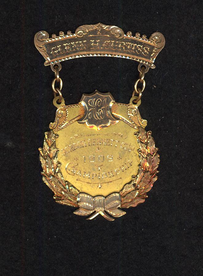 Medal, Gordon Bennett Championship, Glenn Curtiss